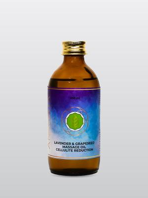 Lavender & Grapeseed Massage Oil  - Cellulite Reduction -200 ML