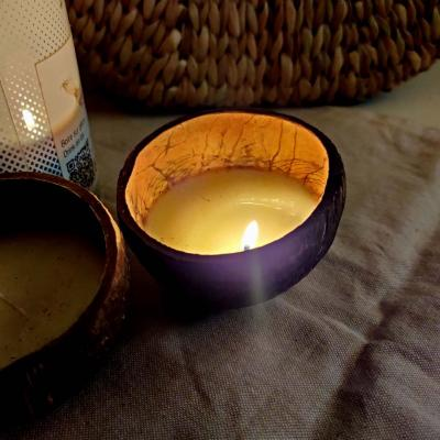 Natural Coconut Shell Candles (Soy wax) - Upcycled