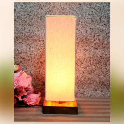 Elegant 14 Inch Handcrafted Decorative Table Lamp In Sheesham Wood