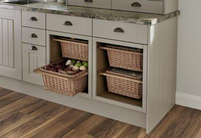 Modular Kitchen Wicker Basket With Partition Including Channel For Storing Fruits and Vegetable ( Handmade )