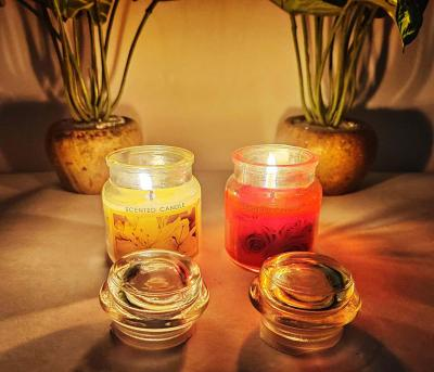 Pack of 2 Fragrance Scented Candle in Glass Jar II Bees Wax Candle with 22 hrs Burn time Each II Rose and Lilium Brownii
