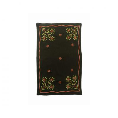 Hand Embroided Cotton Chikankari Tablemat With Flowers