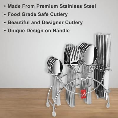 FnS Vertica 24 Pc Cutlery Set with Hanging Stand