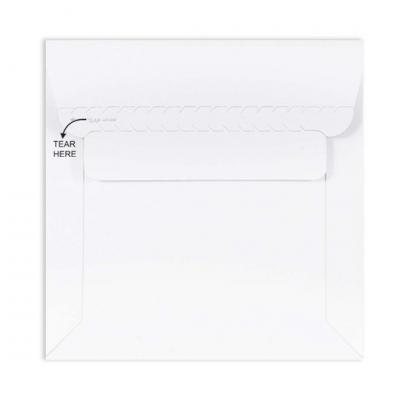 Pack of 10 White All Board Envelope 450 GSM Thick, Size : 6 x 6 inches