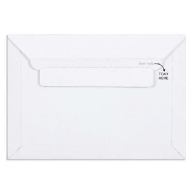 White All Board Envelope 450 GSM Thick, Size : 9 x 6.25 inches, Pack of 10 envelopes