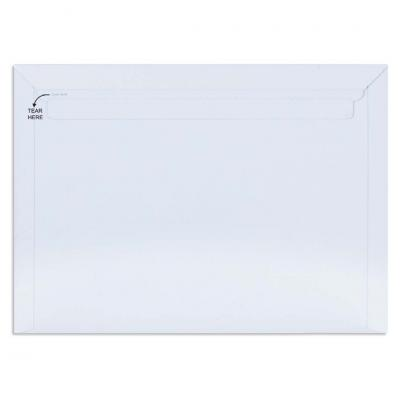 White All Board Envelope 450 GSM Thick, Size : 17.5 x 12.75 inches, Pack of 10 envelopes