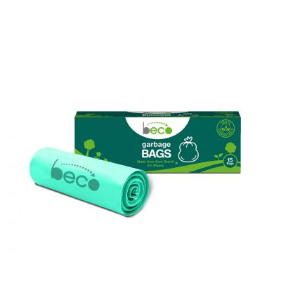 Beco Compostable Medium 19 X 21 Inches Garbage Bags/Trash Bags/Dustbin Bags 15 Pieces - Pack of 3