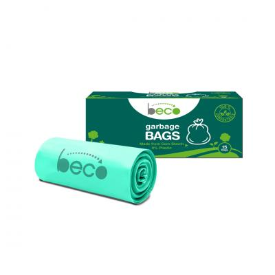 Beco Compostable Small 17 X 19 Inches Garbage Bags/Trash Bags/Dustbin Bags 15 Pieces - Pack of 3