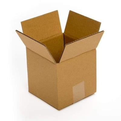 3 Ply Corrugated Box for Packing  (Packbox.in ) (L-4  Inches W- 4 Inches H-4 Inches)  Pack of 25 Nos.